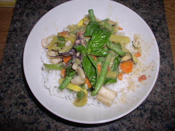 Thai Seafood Curry Over Coconut Jasmine Rice Recipe - Food.com