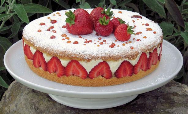 Images Of Strawberry Cream Cake : Strawberry Cream Cake Recipe - Food.com