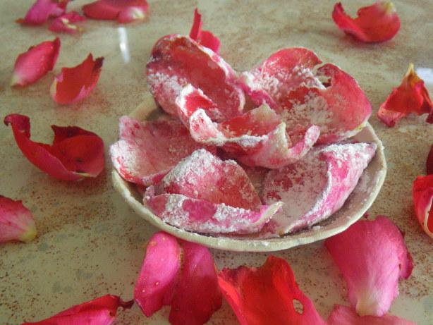 homemade crystallised rose petals recipe