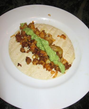 Potato-Chorizo Tacos With Simple Avocado Salsa Recipe ...