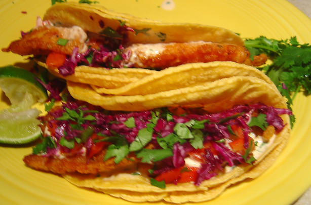 Classic baja style fish tacos recipe for Recipe for fish taco sauce