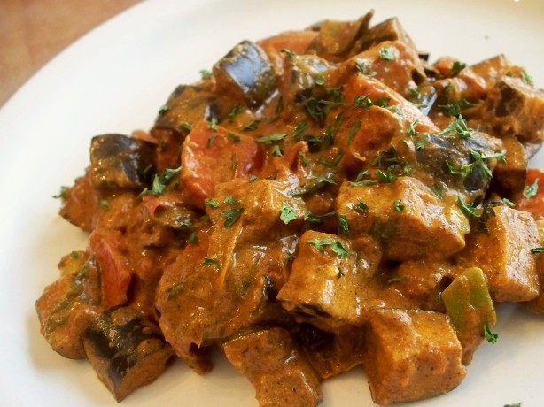 Eggplant, Tomato And Green Onion Curry Recipe - Food.com