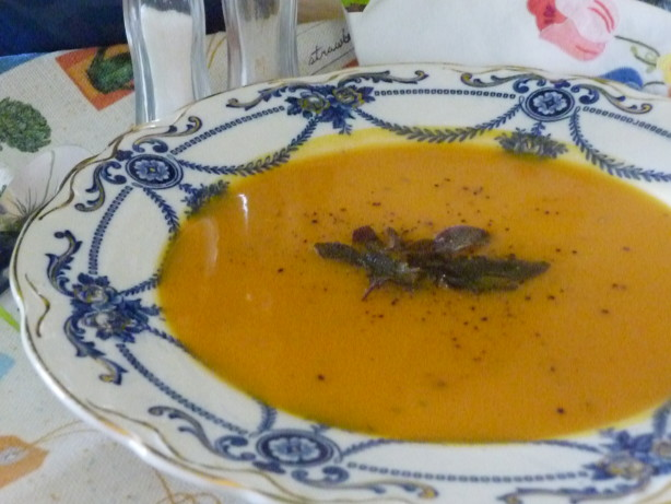 with sage butternut squash soup with sage and gruyere toast recipe ...
