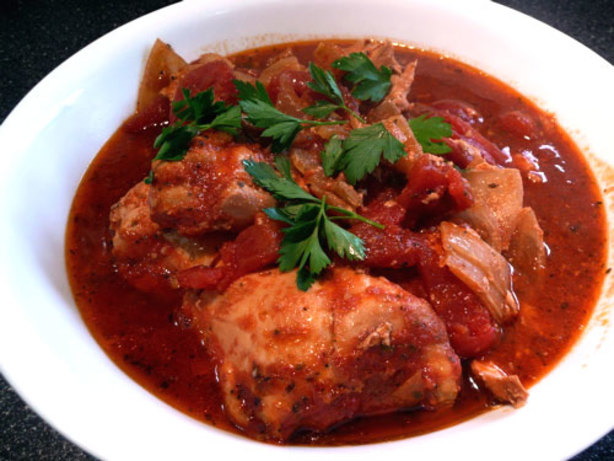 Saucy italian style chicken thighs crock pot recipe for Cooking chicken thighs in crock pot