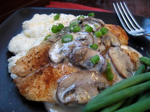 ... Tilapia W Creamy Grits Or Rice And Mushroom Sauce Recipe - Food.com