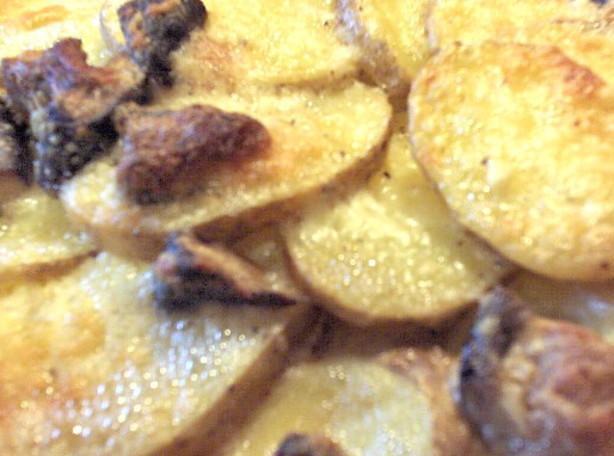 Potato Gratin With Porcini Mushrooms And Mascarpone Cheese Recipe ...