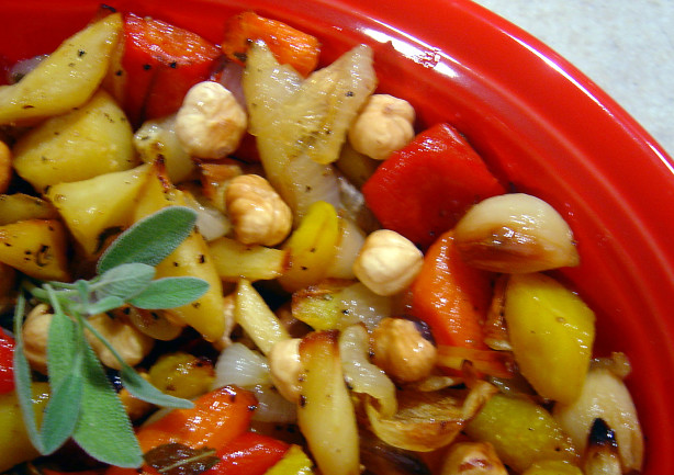 Honey Roasted Vegetables With Macadamia Nuts Recipe - Food.com