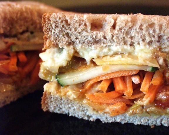 Lunchbox Hummus Vegetable Sandwich Recipe - Food.com