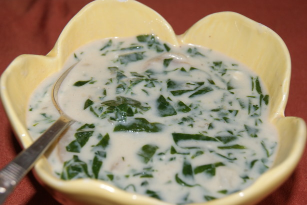 fresh spinach soup recipe