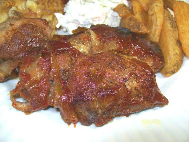 Crock Pot Barbec...Y Style Barbecued Ribs Recipe In Crock Pot