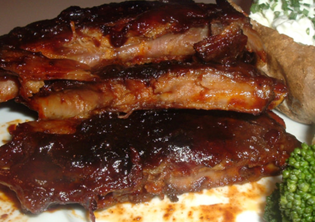 Chili Rubbed Baby Back Ribs W Dark Roast Coffee Barbecue Sauce Recipe ...