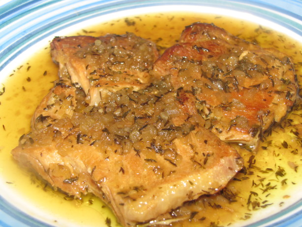 Pork Chops With Cranberry-Thyme Sauce -Crock Pot Recipe Recipe - Food ...