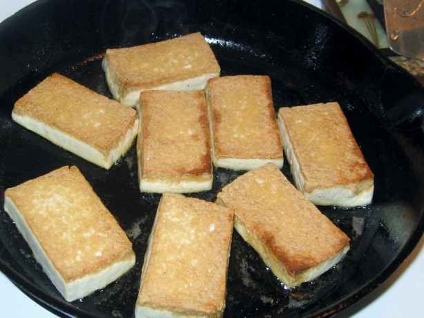 Crispy Pan-Fried Tofu Recipe — Dishmaps