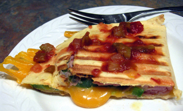 Grilled Ham And Cheese Quesadillas Recipe - Food.com