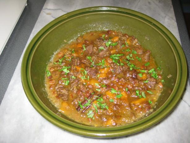 Moroccan Venison Beef) Tagine W Dried Mango And Raisins Recipe - Food ...