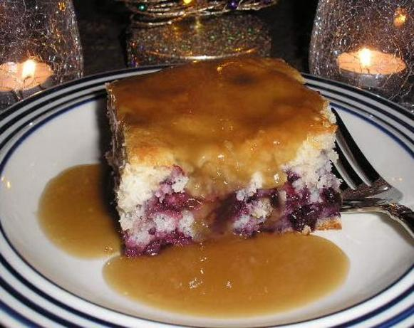 Blueberry Cake With Brown Sugar Sauce Recipe Food Com