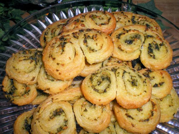 Palmiers Du Basilic Basil Scented Savory Cookies Recipe