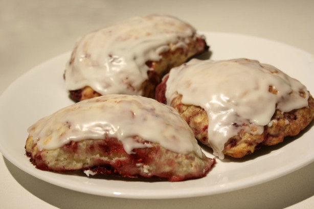 Raspberry Mega Scones Recipe — Dishmaps