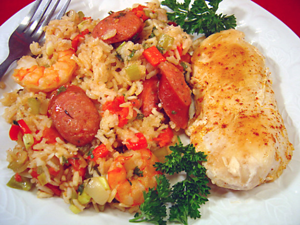 Chicken, Shrimp And Andouille Jambalaya Recipe - Food.com