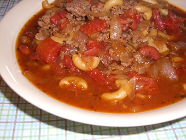 Hamburger, Bean, And Macaroni Soup Recipe - Food.com