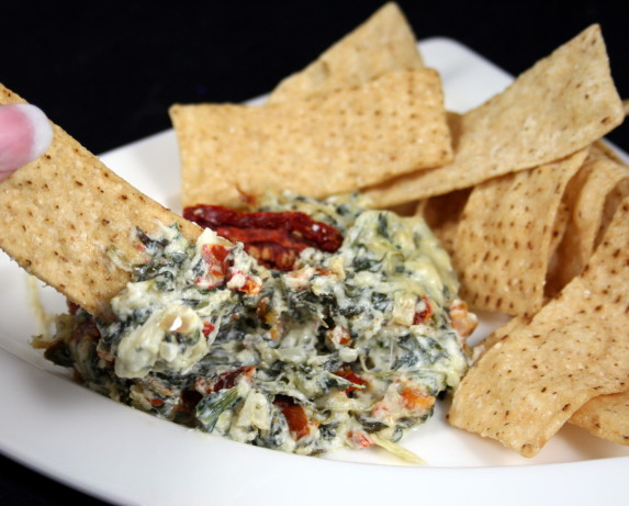 Artichoke, Spinach And Sun-Dried Tomato Dip Recipe - Food.com