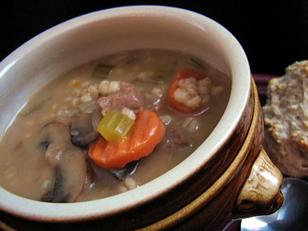 Beef And Barley Soup With Mushrooms For The Crock Pot