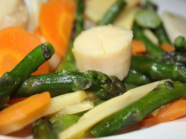 Stir-Fried Scallops With Asparagus Recipe - Food.com