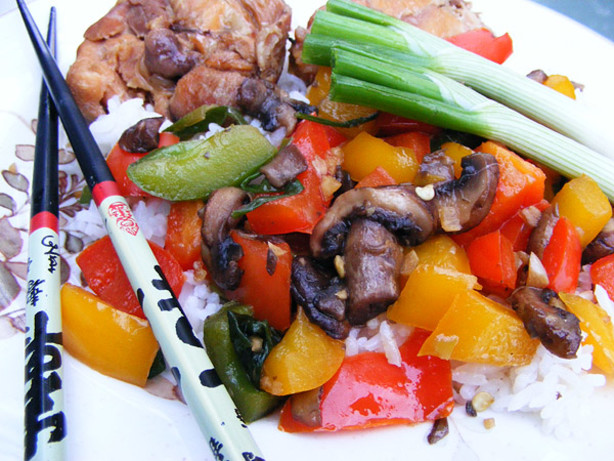 Stir-Fry Mushrooms And Bell Peppers Recipe - Food.com