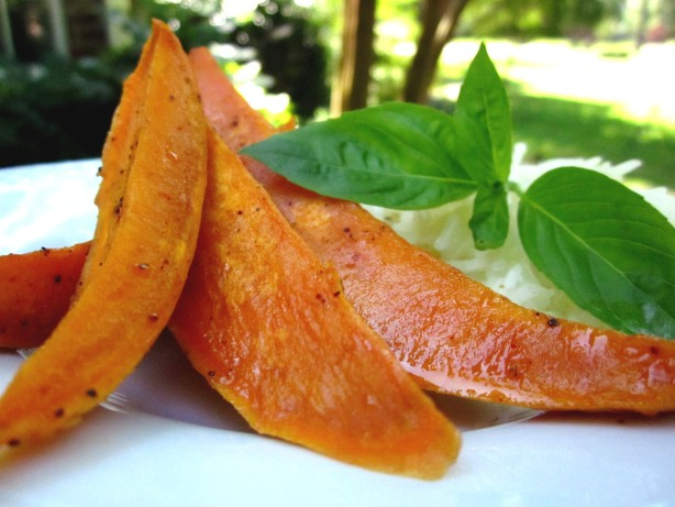 Oven-Roasted Spicy-Sweet Sweet Potatoes Recipe - Food.com
