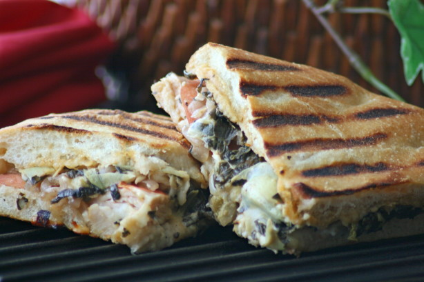 Panera's Turkey Artichoke Panini Recipe — Dishmaps