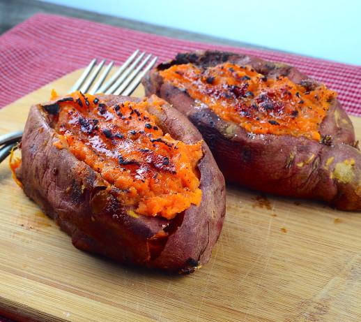 Twice Baked Sweet Potatoes The Neelys) Recipe