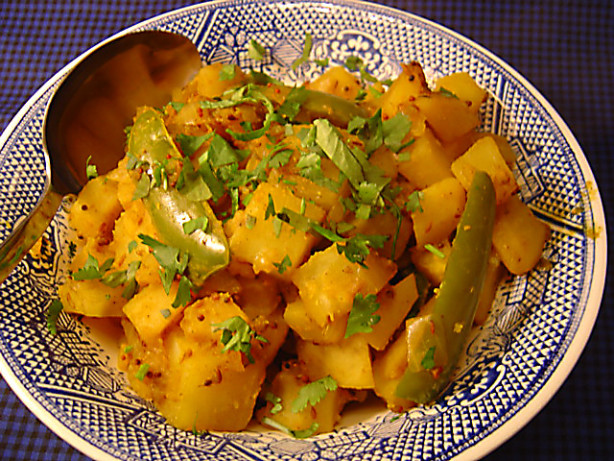 Indian potatoes with mustard seeds sookhi bhaji recipe for Indian potato recipes for lunch