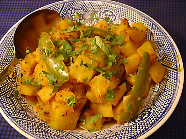 Indian Potatoes With Mustard Seeds Sookhi Bhaji Recipe Food Com