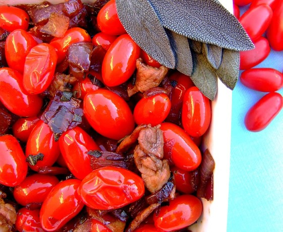 Grape Tomatoes With Onion, Bacon And Sage Recipe - Food.com