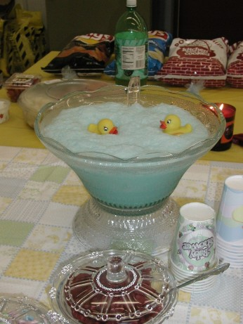 baby shower blue cloud punch recipe