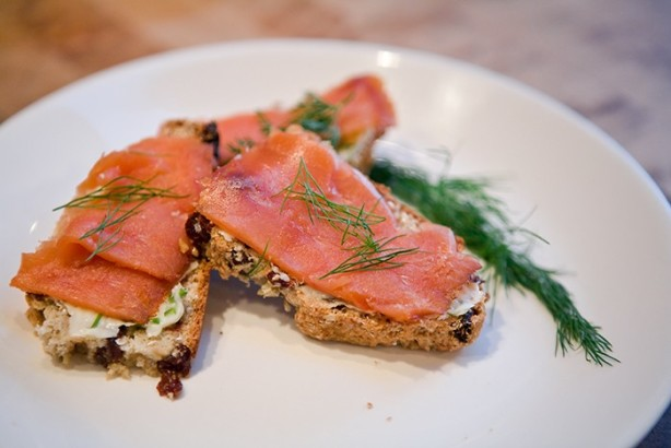 Smoked Salmon On Irish Soda Bread Crostini Recipe - Food.com