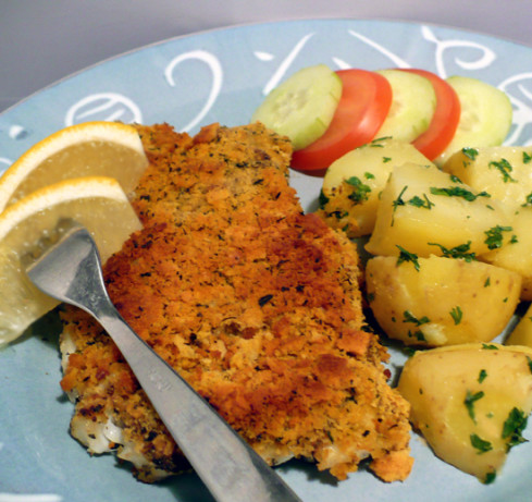 Baked Cod With Crunchy Lemon-Herb Topping Recipe - Food.com