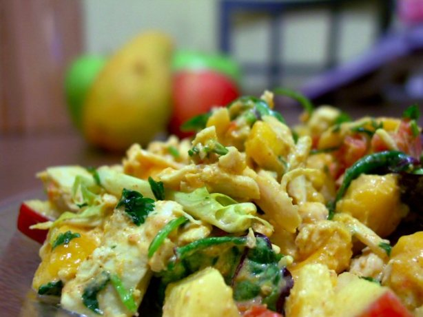 Apple And Mango Curried Chicken Salad Recipe - Food.com