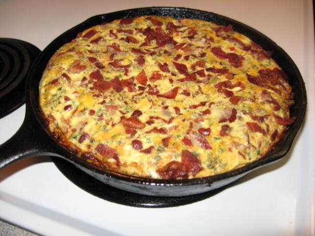 Skillet Potato Pie With Eggs And Cheese Recipe - Food.com