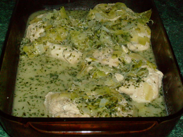 Jerry Traunfelds Tarragon Chicken Breast With Buttery Leeks Recipe ...