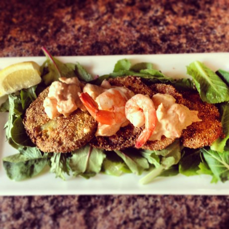 Fried Green Tomatoes With Shrimp Remoulade Recipe - Soul.Food.com