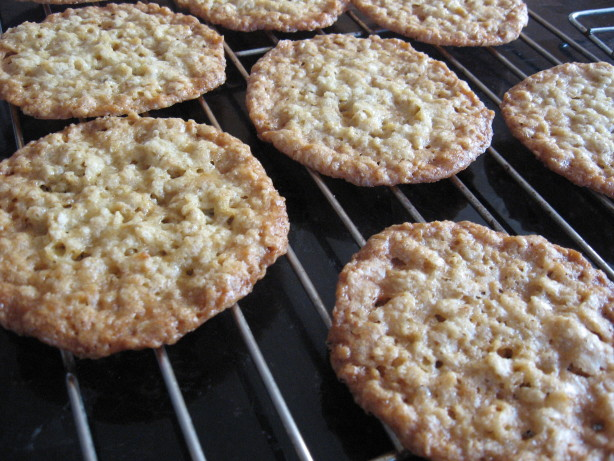 Coconut Oatmeal Lace Cookies Recipe — Dishmaps