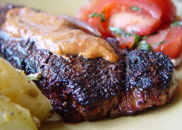 Mexican Chain Restaurant Recipes: Spice Crusted Strip Steak