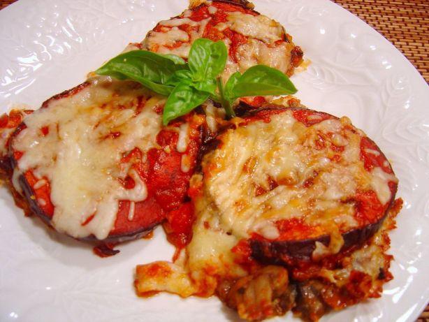 Baked Eggplant With Mushroom-And-Tomato Sauce Recipe - Italian.Food ...