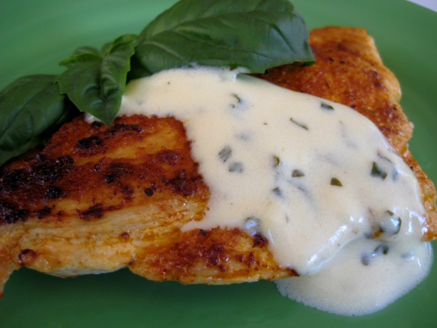 Grouper With Lemon Basil Cream Sauce Recipe — Dishmaps