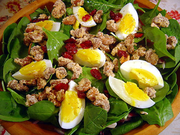 Spinach Salad With Candied Cashews Recipe - Food.com