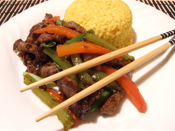 Stir-Fried Shredded Beef With Peppers Recipe - Food.com