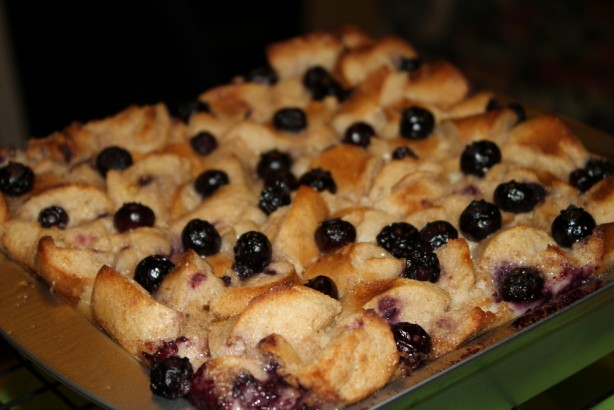 Blueberry Bagel Bread Pudding Recipe - Dessert.Food.com