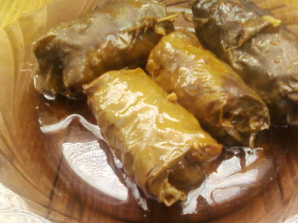 how to cook stuffed grape leaves with mince beef