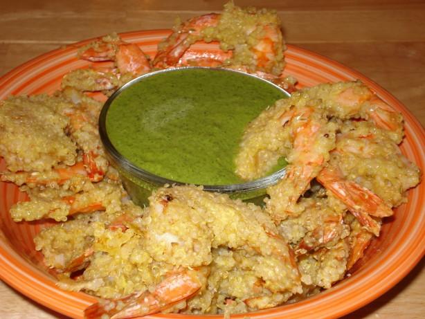 Peruvian Quinoa Shrimp Chicharrones With Green Aji Sauce Recipe - Food ...